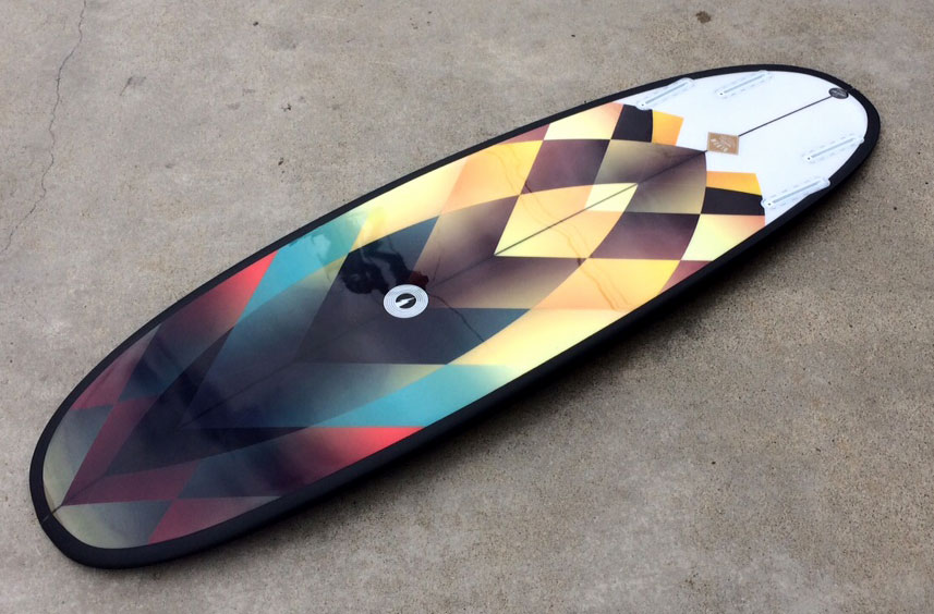 surfboard longboard graphics