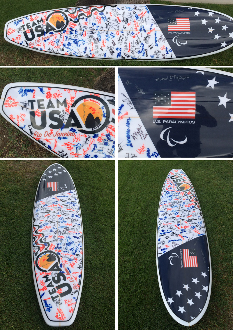US Paralympics Team Surfboard